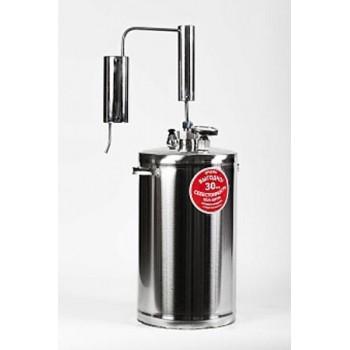 Дистиллятор ПЕРВАЧ (Самогонный аппарат) Премиум-классик 30Т 30л, нержавеющая сталь, проточный с сухопарником, термометр