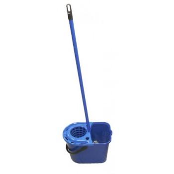 Набор для влажной уборки Мульти (ведро с отжимом на 14л, насадка Миди х/б, ручка 110см), синий