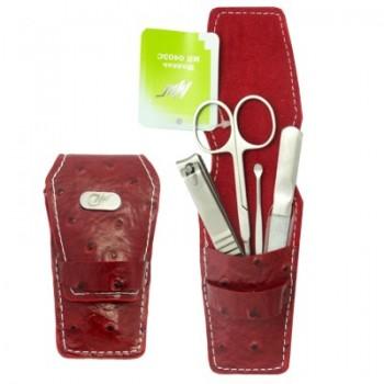 Маникюрный набор Миг МН 0403C 4 предмета красный футляр