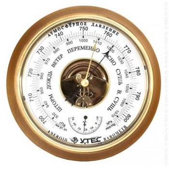 Барометр Утес БТК-СН-16 с термометром (корпус-дерево, диам.210/160мм, откр.механизм)