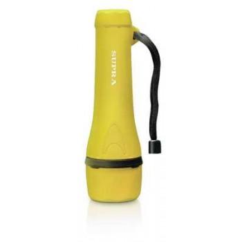 Фонарь ручной Supra LED-3 SFL-R-3L-2AA светодиодный резиновый yellow влагоустойчивый, водонепроницаемый