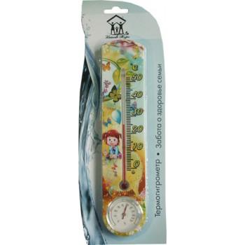 Термогигрометр комнатный Стеклоприбор ТГК-1 от 0 до +50°C (термометр комнатный с гигрометром) серия Качество жизни