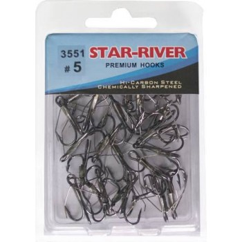 Тройник-незацепляйка STAR-RIVER 3551 #5 (в упак.30шт)