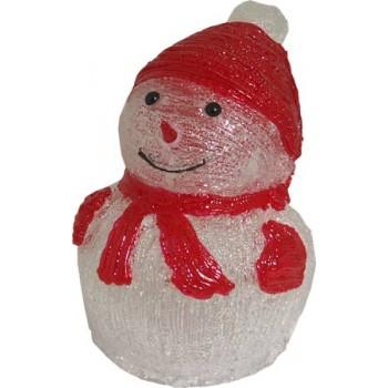 Фигура с подсветкой-снеговик