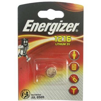 Батарейка Energizer (литиевая) CR1216-BL1/3V (1 шт. в уп.)