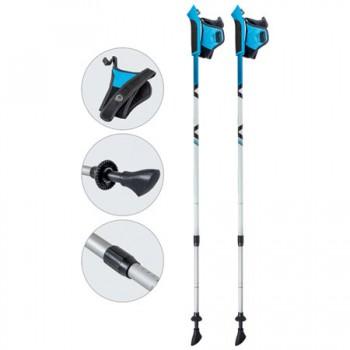 Палки для скандинавской ходьбы Ecos AQD-B017 azure телескопические