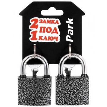 Замки навесные Park BC3P50/BC3P50 (набор 2 замка под 1 ключ) 288138