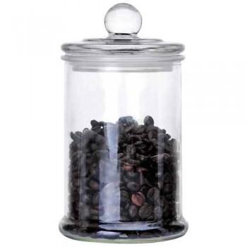 Стеклянная банка для сыпучих продуктов с крышкой BANCA, объем: 0.75 л, тм Mallony