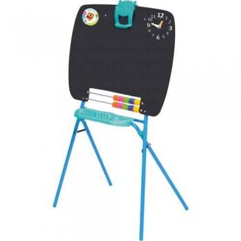 Мольберт детский односторонний Ника М (цвет каркаса - Голубой) для рисования мелками