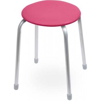 Табурет Ника Классика ТК02 (малиновый) на 4-х опорах, сиденье круглое 320мм, фанера, винилискожа