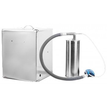 Коптильня для холодного копчения Дым Дымыч 02М, ёмкость 32л + компрессор, нержавеющая сталь