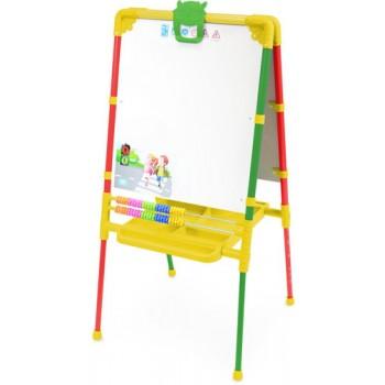 Мольберт детский двусторонний Ника М2Л/СФ Растущий (цвет каркаса - Светофор) с большим пеналом и магнитной азбукой