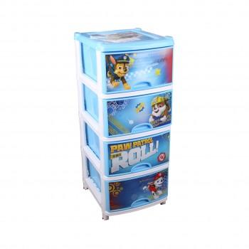 Комод детский Щенячий патруль М6101, 4 ящика, для мальчиков