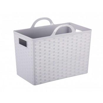 Корзина-сумка «Плетенка» М6817, 26 л, с ручками, серая