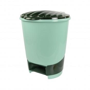 Ведро для мусора М1287, 18 л, с педалью, цвет в ассортименте