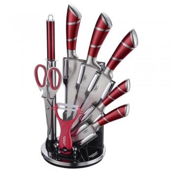 Набор ножей ZEIDAN Z-3096 на подставке, 9 предметов, нержавеющая сталь