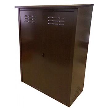 Ящик для газовых баллонов 2 места по 50л Петромаш, коричневый