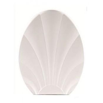Сиденье для унитаза жесткое РАКУШКА бел.РП-812