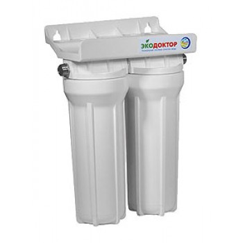 Фильтр для воды ЭКОДОКТОР-2 3/4 (ST) 2-х корп., тех.умягчение