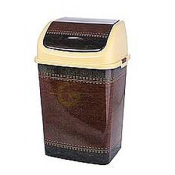 Ведро для мусора 18,0л Камелия Кожа кор/беж.