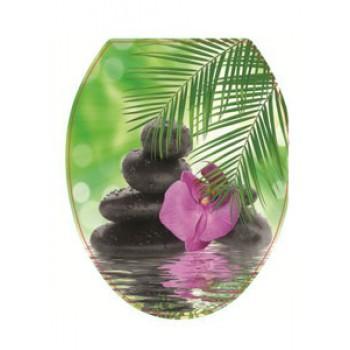 Сиденье для унитаза жест.ДЕКОР Орхидея РП-813А