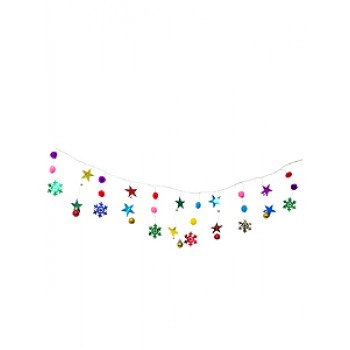 Гирлянда из звезд и снежинок 1,75м SYCB17B-056
