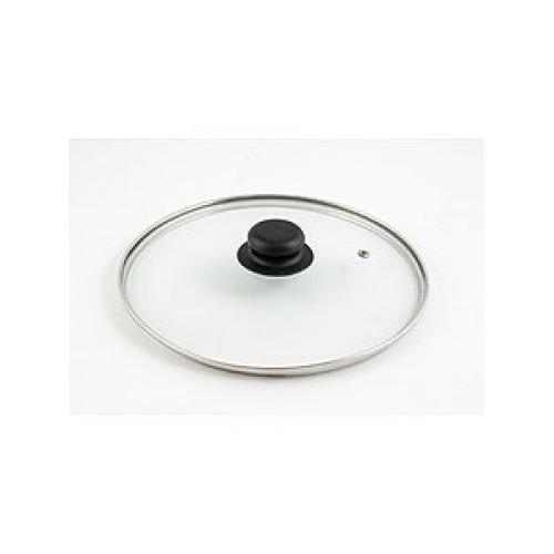 Крышка d280 4728 стекл., низкая, ободок, пароотв