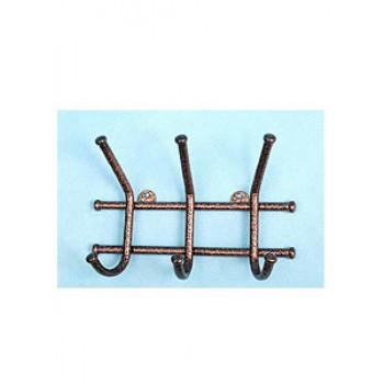 Вешалка Норма-3 медь металл,3крючка 150х170х80мм