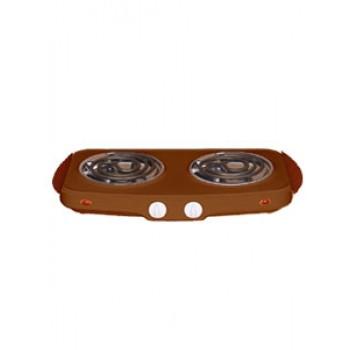 Плитка электрическая настольная ЭПТ-2МД-03 коричн.2конф.2,0кВт,нерж.чаша,ручки