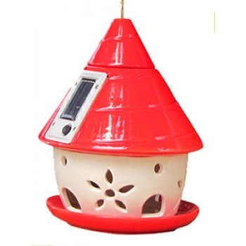 Кормушка для птиц 13010 керам/солн.бат138*138*180