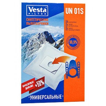 Комплект пылесборников VESTA UN01S 4шт универсальные
