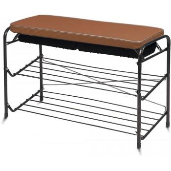 Этажерка НИКА ЭТП3/А, 3-х ярусная, сиденье с ящиком, медный