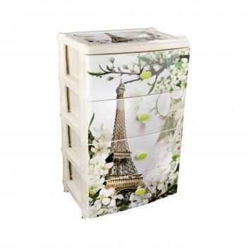 Комод пластиковый Весна в Париже М2266, 4 ящика