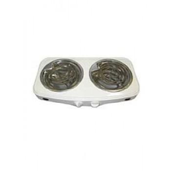 Плитка электрическая настольная ЭПТ-2МД-08 белая 2конф.2,0кВт,нерж.чаша