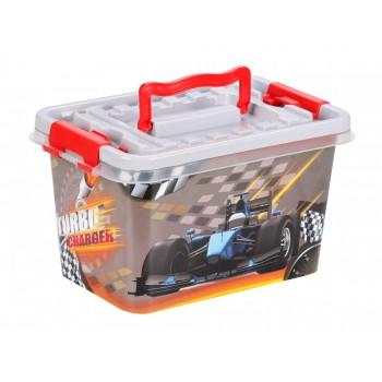 Контейнер для детских игрушек Форсаж М6576, 4 л, 26х17х14см