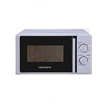 Микроволновая печь HORIZONT 20MW700-1478BIW 20л,0,7кВт,гриль,мех.п