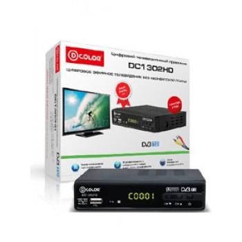 Цифровая ТВ приставка D-COLOR DC1302HD,MKV,DVB-T/T2