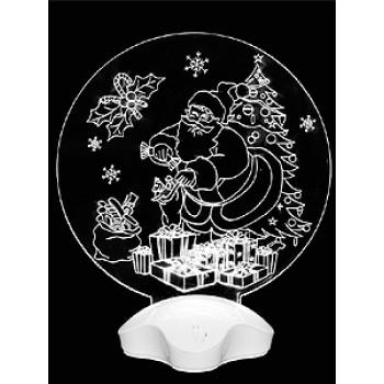 """Светильник акриловый """"Дед Мороз и подарки"""""""
