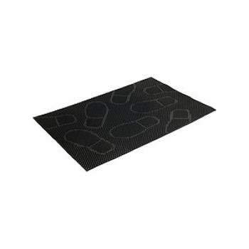 Коврик придверный резиновый VORTEX 40х60см Следы22462