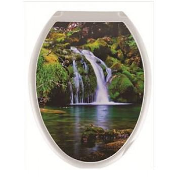 Сиденье для унитаза жесткое ДЕКОР Водопад РП-813В