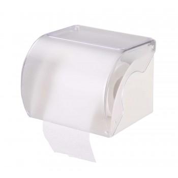 Держатель для туалетной бумаги М6581, с полкой, белый