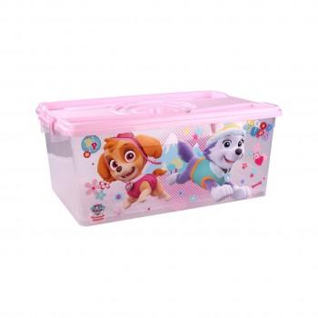 Контейнер для хранения вещей Щенячий патруль М6139, 40 л, для девочек, розовый