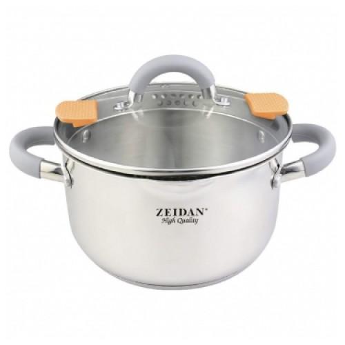 Кастрюля ZEIDAN Z-50291, 5 л, со сливом, нержавеющая сталь