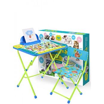 Комплект мебели Ника КУ2/ПА Пушистая азбука стол+мягк.стул