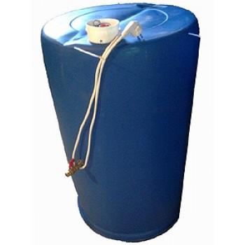 Бочка для душа дачного Водогрей 227л, 2 кВт, пластиковая
