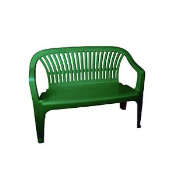 Скамейка со спинкой Престиж М5934тем.зел.115х60х81