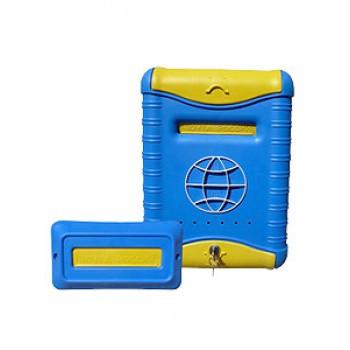 Ящик почтовый пластиковый,замок 39х28см