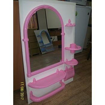 Набор для ванной Олимпия 7пр.зеркло,пластик роз.