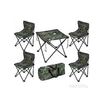 Комплект (складной стол и 4 стула) ECOS TD-09 камуфляж