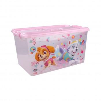 Контейнер для хранения вещей Щенячий патруль М6138, 50 л, для девочек, розовый